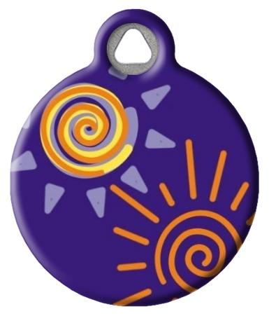 Sunny Days Lupine Pattern Pet ID Tag