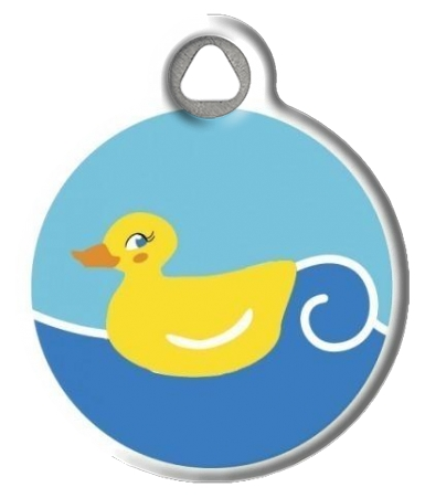 Just Ducky Lupine Pattern Pet Collar Tag