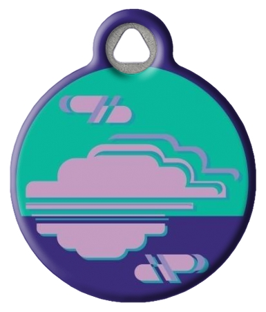 Purple Haze Lupine Pattern Pet Identity Tag