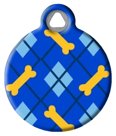 Dapper Dog Lupine Pattern Pet Identity Tag