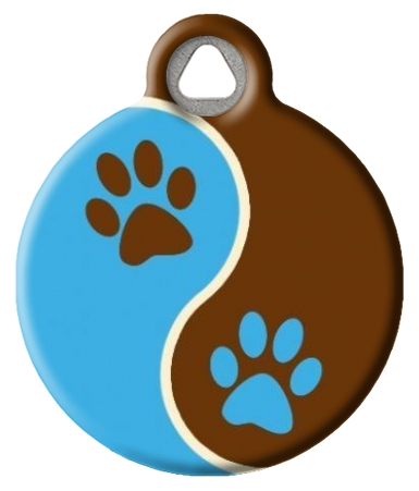 Muddy Paws Lupine Pattern Dog Collar Tag