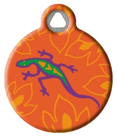 Go Go Gecko Lupine Pattern Pet Collar Tag