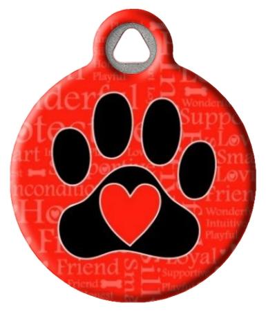 A Dog's Word Pet Identity Tag