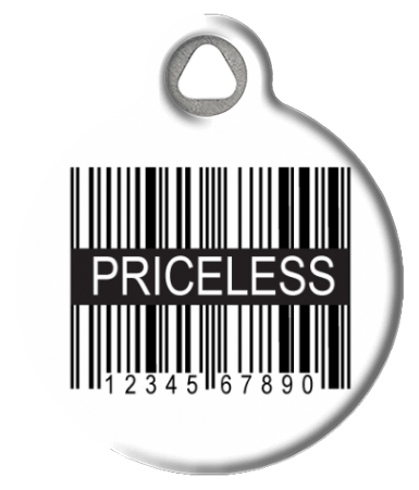 Priceless UPC Dog Collar Tag