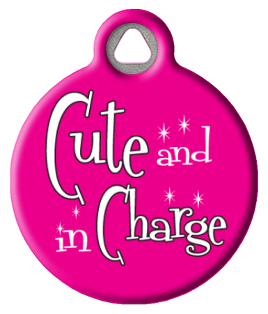 Cute and in Charge Custom Dog Tag