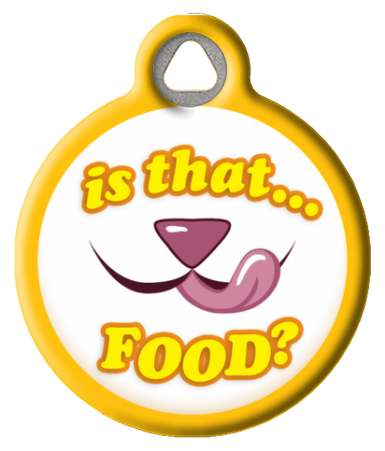 Is That Food? Pet Collar Tag