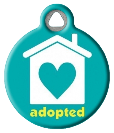 Adopted by a Loving Home Pet ID Tag