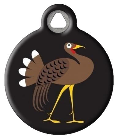 Wild Turkey Pet Collar Tag