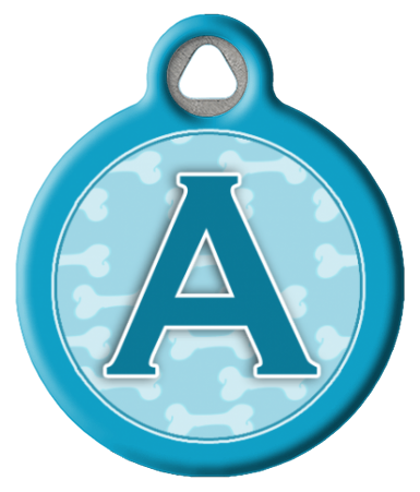 Blue Bones Monogram A-Z Collar Tag