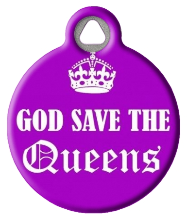 God Save the Queens Custom Pet ID