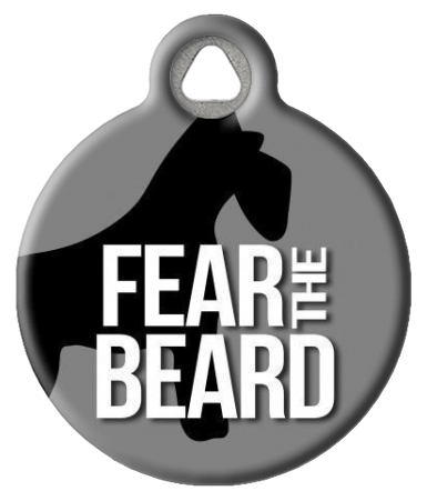 Fear the Beard Pet ID Tag