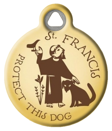 St. Francis Protect This Dog ID Tag