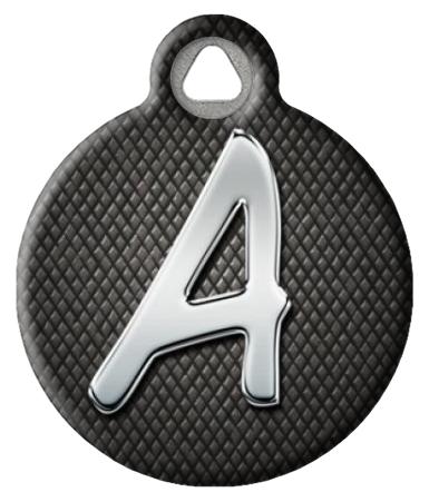 Chrome Monogram A-Z Pet ID Tag