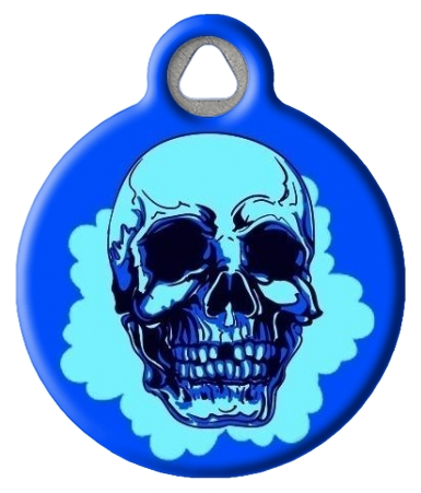 Blue Cheer Skull Pet ID Tag