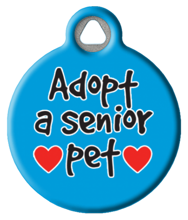 Adopt A Senior Pet ID Tag