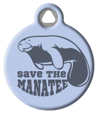 Manatee Conservation Pet Collar Tag