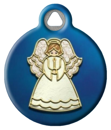 Angel Ornament ID Tag for Dogs or Cats