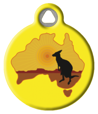 Kangaroo Australia ID Tags for Cats or Dogs