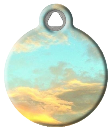 Dreamy Clouds Designer ID Tag for Pets