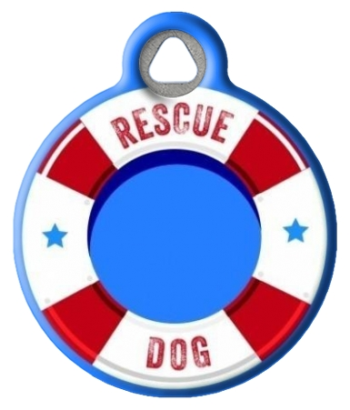 Life Preserver Rescue Dog ID Tag