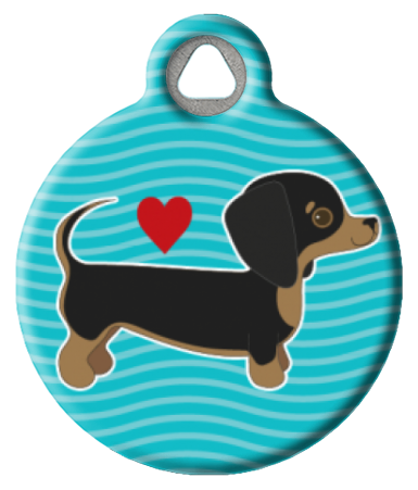 Dachshund Pup Love ID Tag for Dogs