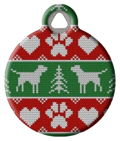 Tacky Doggie Christmas Sweater ID Tag for Dogs