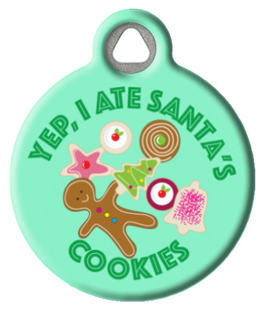 Christmas Cookie Fiend Pet Tag