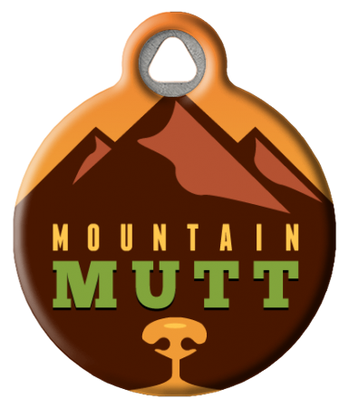 Warm Mountain Mutt Pet ID Tag