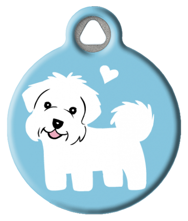 Maltese Doggie ID Tag