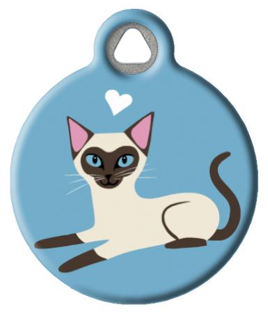Siamese Kitty Cat ID Tag