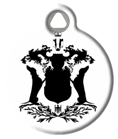 Dachshund Coat of Arms ID Tag