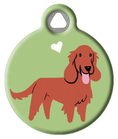 Irish Setter Brown Doggie ID Tag