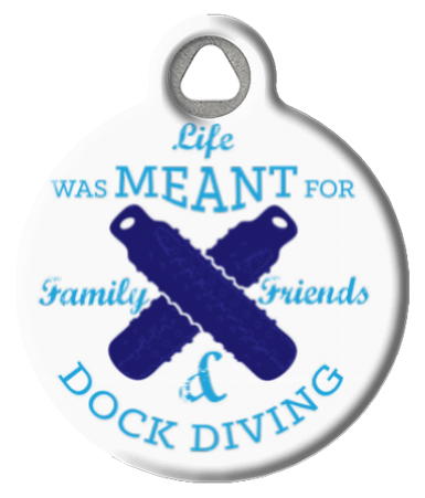 Dock Diving Dog ID Tag