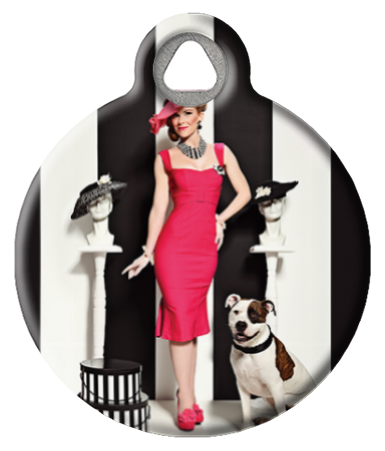 Department Store Dame Pinup Dog Tag