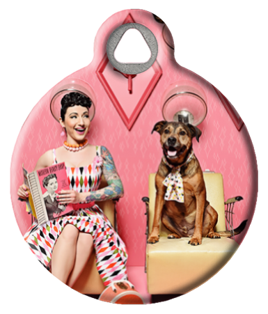 Sweetheart Salon Pinup Dog Tag