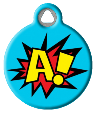 Comic Book Monogram ID Tag