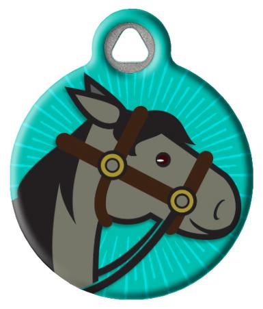 Iron Steel Horse ID Tag