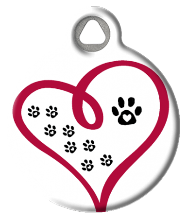 Paw Prints on Your Heart ID Tag