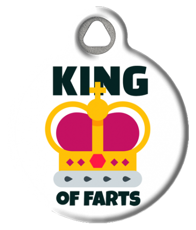 King of Farts Pet ID Tag