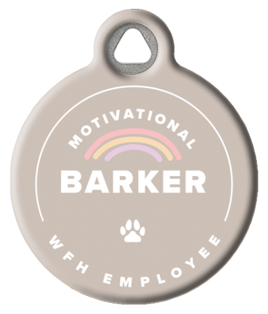 WFH Employee Motivational Barker ID Tag
