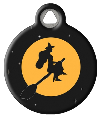 Halloween Witch Pet ID Tag