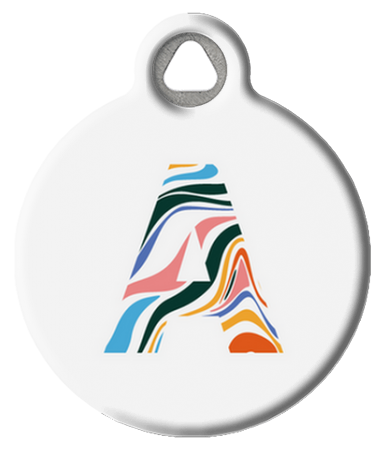 Swirly Psychedelic Monogram Tag