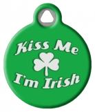 Kiss Me I'm Irish Pet Tag