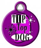 Retro Tip Top Dog ID Tag
