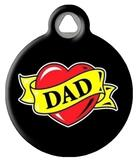 Dad Heart Tattoo Custom Pet Tag
