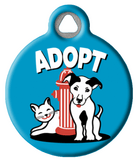 Blue Adopt Pet Collar Tag