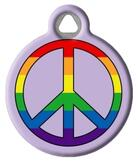 Rainbow Peace Tag for Pets