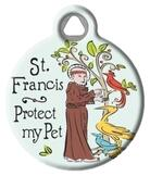 St. Francis Protection Medal Tag for Pets