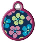 Flower Power Lupine Pattern Dog Identity Tag