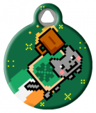 St. Patrick's Nyan Cat Custom Tag